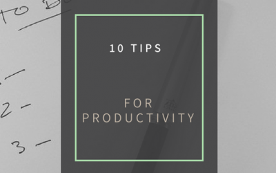 10 Productivity Tips to help get through your To Do List