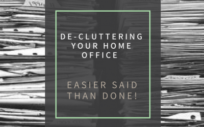 De-Cluttering your home office – Easier said than done?